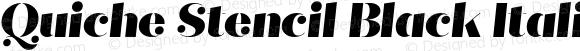 Quiche Stencil Black Italic