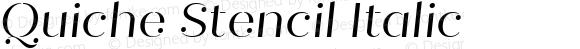 Quiche Stencil Italic