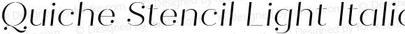Quiche Stencil Light Italic