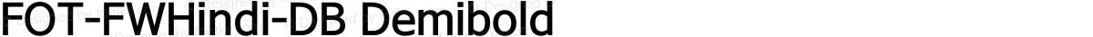 FOT-FWHindi-DB Demibold