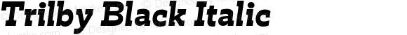 Trilby Black Italic