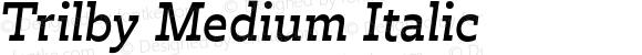 Trilby Medium Italic