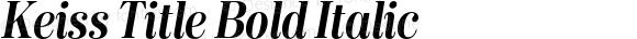 Keiss Title Bold Italic