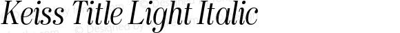 Keiss Title Light Italic