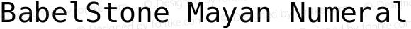 BabelStone Mayan Numerals Regular