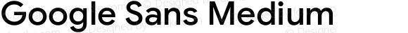Google Sans Medium Version 1.020