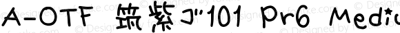 A-OTF 筑紫ゴ101 Pr6 Medium