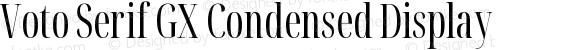 Voto Serif GX Condensed Display