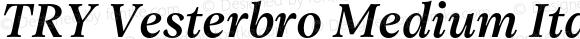 TRY Vesterbro Medium Italic