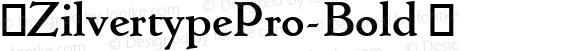 ☞ZilvertypePro-Bold ☞ Version 1.1;com.myfonts.easy.canadatype.zilvertype-pro.bold.wfkit2.version.4dne