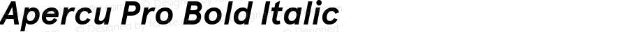 Apercu Pro Bold Italic Version 3.003; ttfautohint (v1.5)
