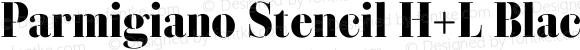Parmigiano Stencil H+L Black