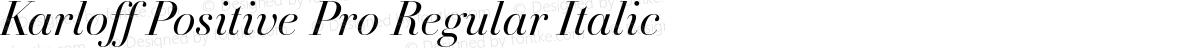 Karloff Positive Pro Regular Italic