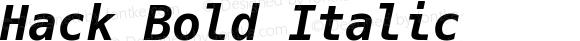 Hack Bold Italic