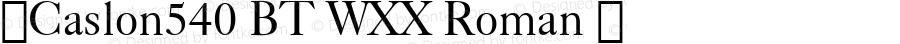 ☞Caslon540 BT WXX Roman ☞ Version 1.10;com.myfonts.bitstream.caslon-540.540.wfkit2.ix6A