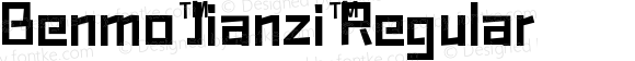 Benmo Jianzi Regular Version 1