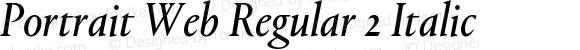 Portrait Web Regular 2 Italic