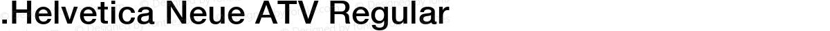 .Helvetica Neue ATV Regular