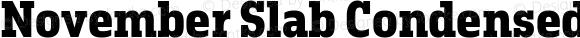 November Slab Condensed Pro Black