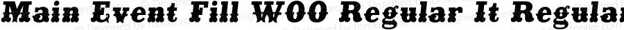 Main Event Fill W00 Regular It Regular Version 1.006