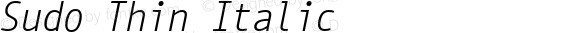 Sudo Thin Italic