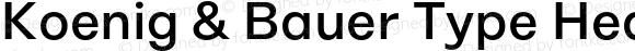Koenig & Bauer Type Headline Medium