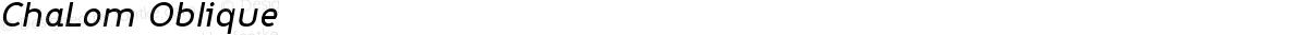 ChaLom Oblique