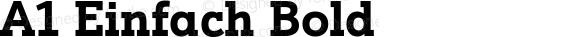 A1 Einfach Bold