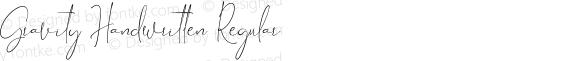 Gravity Handwritten Regular