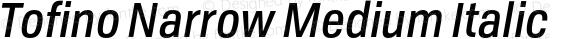 Tofino Narrow Medium Italic