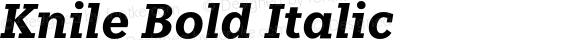Knile Bold Italic