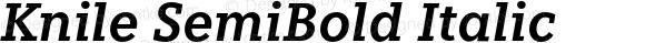 Knile SemiBold Italic