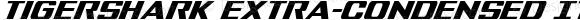 Tigershark Extra-Condensed Italic Extra-Condensed Italic Version 2.0; 2018