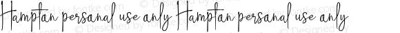 Hampton personal use only Hampton personal use only Version 1.000