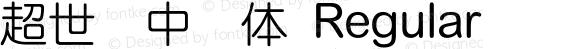 超世纪中圆体 Regular 王汉宗字集(1), March 8, 2001; 1.00, initial release