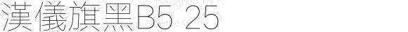 漢儀旗黑B5 25