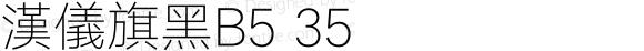 漢儀旗黑B5 35