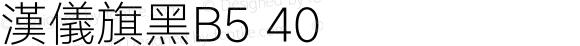 漢儀旗黑B5 40