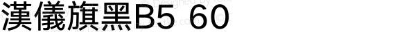 漢儀旗黑B5 60