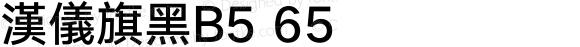 漢儀旗黑B5 65