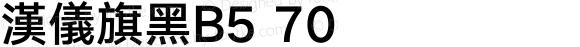 漢儀旗黑B5 70