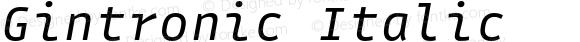 Gintronic Italic