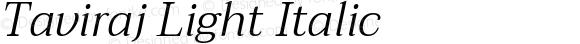 Taviraj Light Italic
