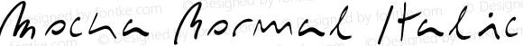 Mocka Normal Italic