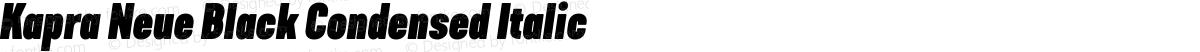 Kapra Neue Black Condensed Italic