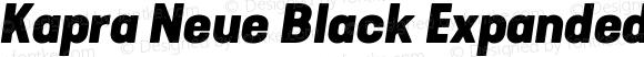 Kapra Neue Black Expanded Italic