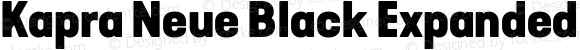 Kapra Neue Black Expanded