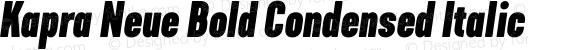 Kapra Neue Bold Condensed Italic