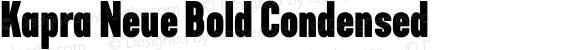 Kapra Neue Bold Condensed