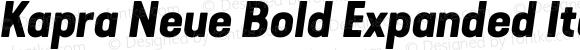 Kapra Neue Bold Expanded Italic